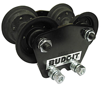Budgit® Rigid Mount Hand Geared/Spark Resistant Push-Type Trolleys